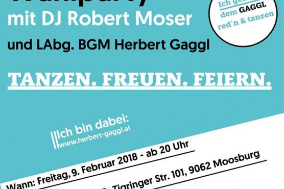 Wahlparty mit DJ Robert Moser